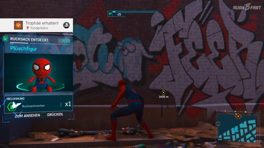 Marvel's Spider-Man - Sammlerstücke: In Peter Parkers zurück gelassenen Rucksäcken verstecken sich allerhand Hinweise auf sein Leben als Spiderman.