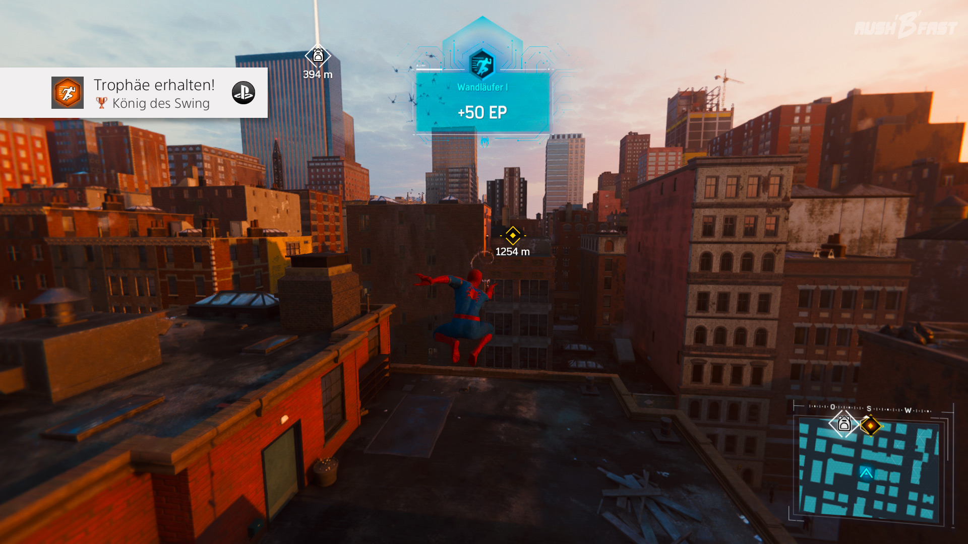 Marvel's Spider-Man - Parkour pur! Wer braucht bei solchen Fähigkeiten schon eine Schnellreisefunktion?
