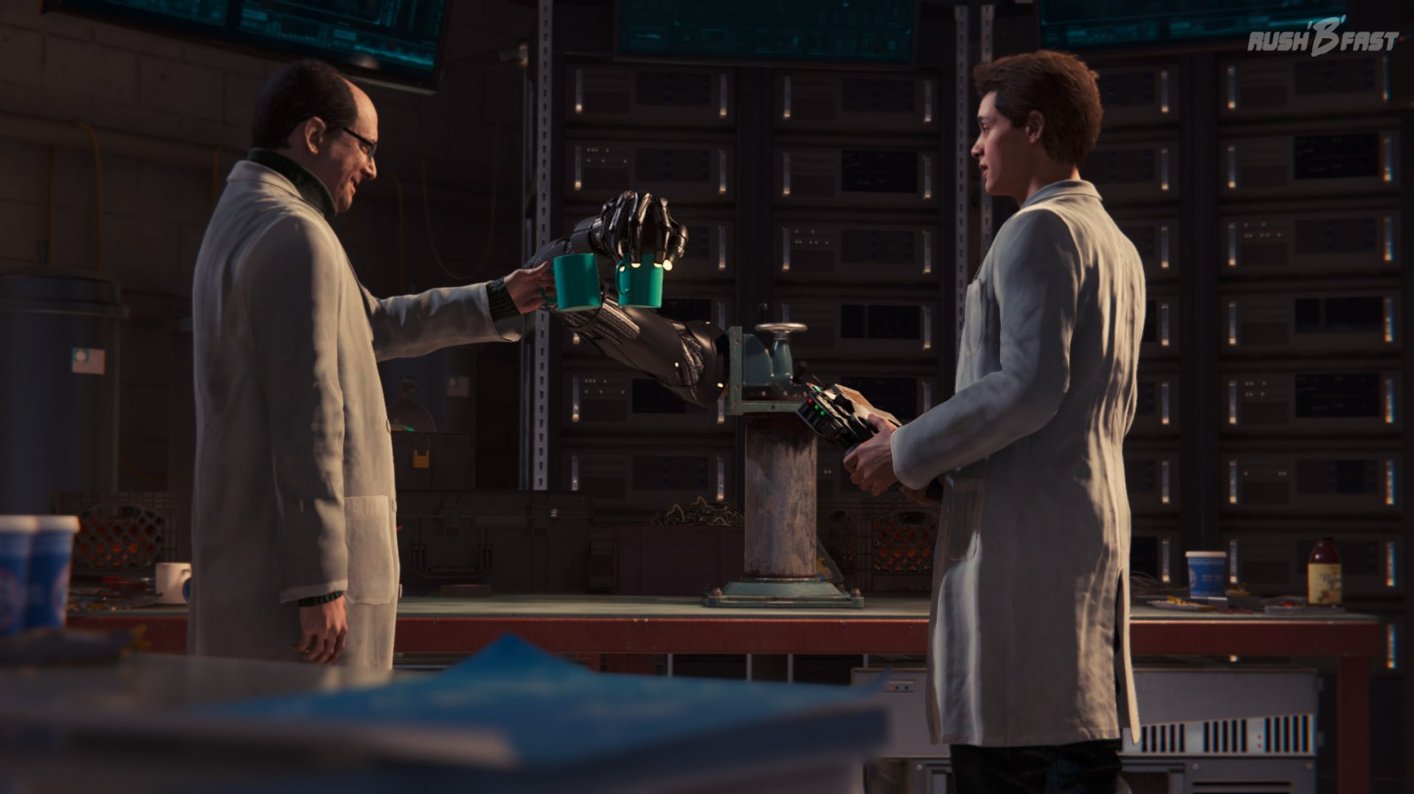 Dr. Otto Octavius und Peter Parker