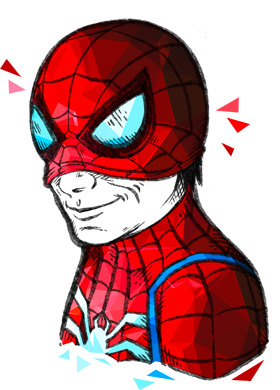 rushBfast, Rene Weinberg als Spider-Man, Illustration: oasentier