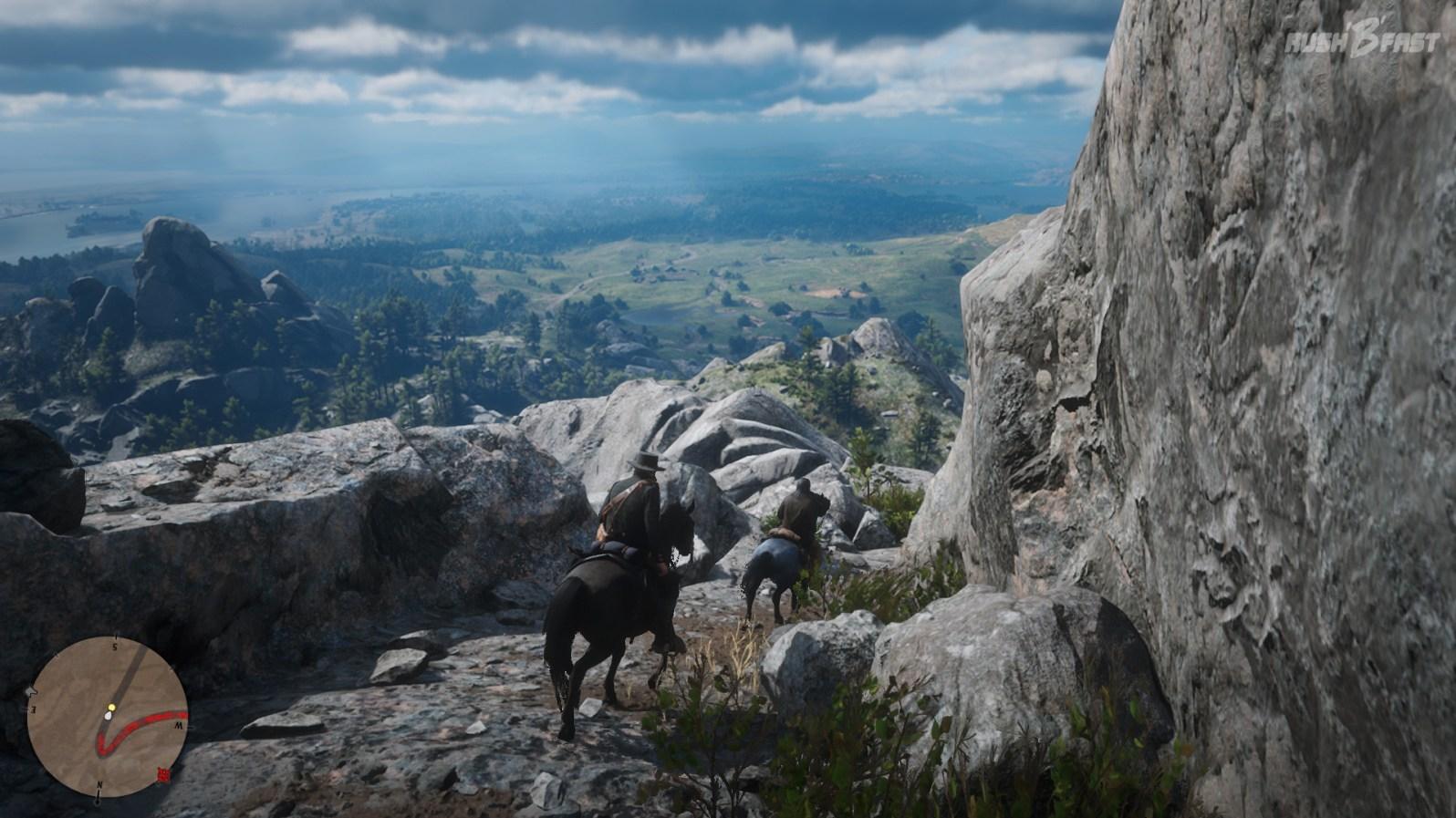 Red Dead Redemption 2: Die Weitsicht in den Bergen ist unglaublich.