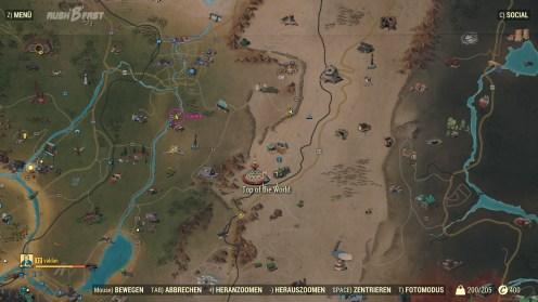 Fallout 76 - Das C.A.M.P wird auf der Karte als Schnellreisepunkt markiert