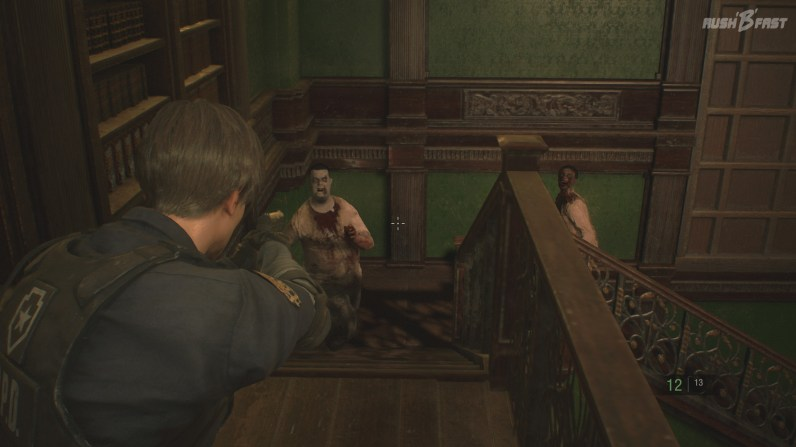 Resident Evil 2 - Um an Nahrung zu kommen, schrecken diese Nager auch nicht vor langen Treppen zurück.