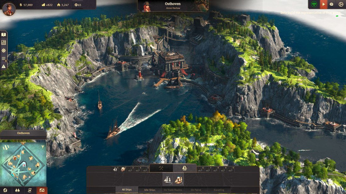 Anno 1800 - Closed Beta - In den Berg gebaute Piratenbasis.