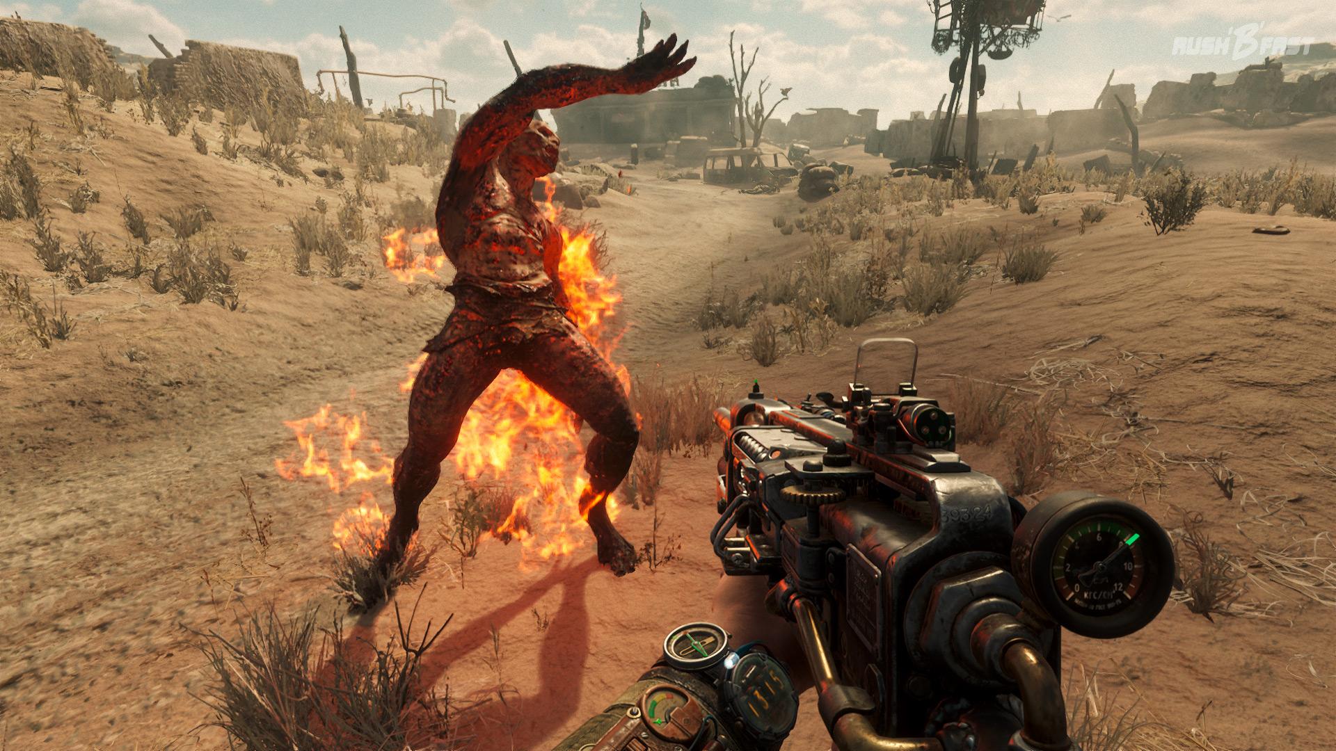"""Metro Exodus - Hier geht es nicht zum """"Burning Man Festival"""" in der Wüste! Tipp: Behaltet immer die Druckanzeige eures Luftgewehrs im Auge!"""