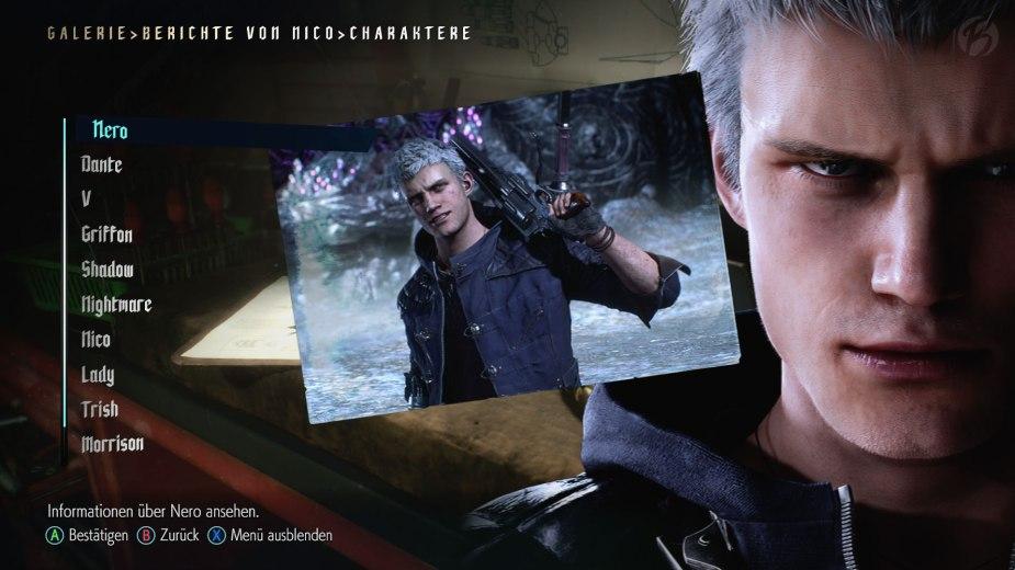 Devil May Cry 5: Berichte von Nico - Informationen zu Nero