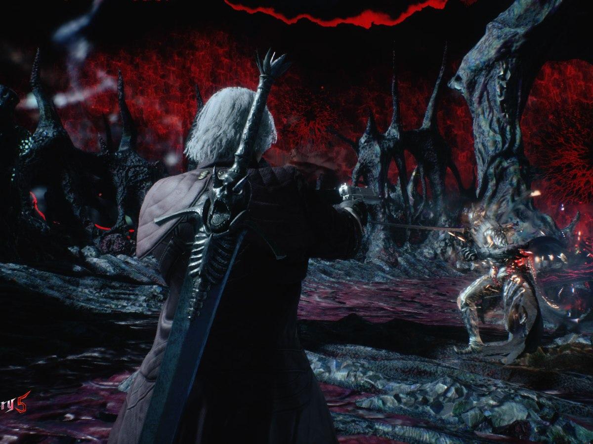 Devil May Cry 5: Ebony & Ivory! Es schadet nicht die Kombos schon einmal im Fernkampf aufzubauen.