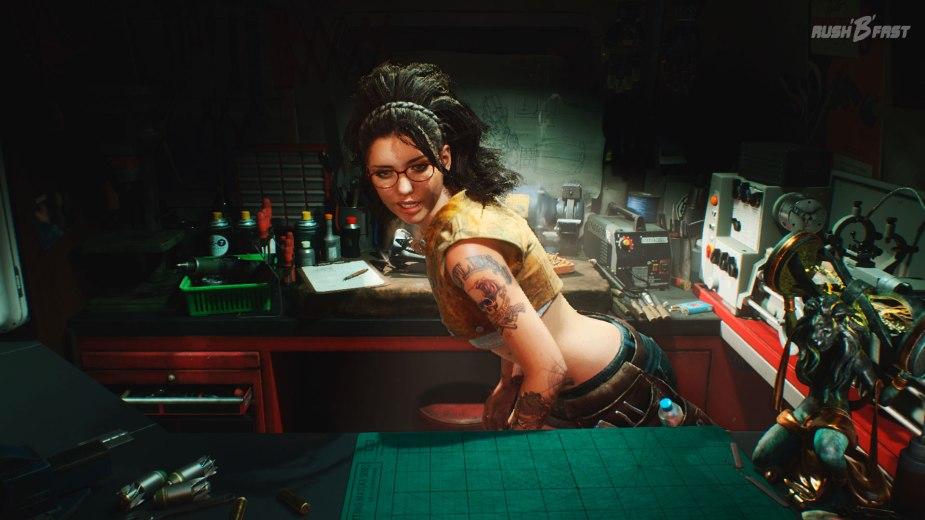 Devil May Cry 5: Nicos Werkstatt ist Teil des mobilen Devil May Cry Büros von Nero.