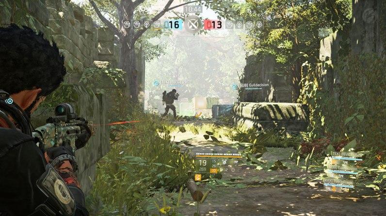 """Tom Clancy's The Division 2 - Im Mehrspielermodus """"Konflikt"""" treten zwei Vierer-Teams in klassischem PvP gegeneinander an."""