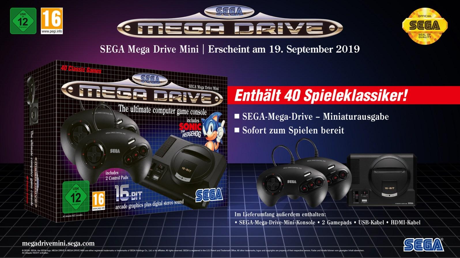 Quelle: Koch Media - Sega Mega Drive Mini Übersicht