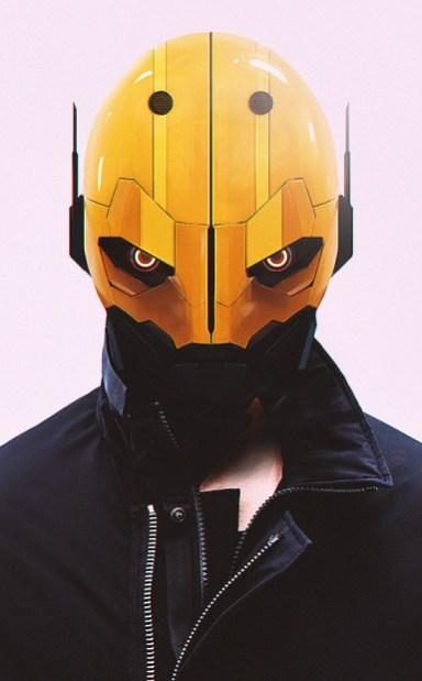 Quelle: abrar_khan1.artstation.com - Abrar Khan - Helmet/Mask Test