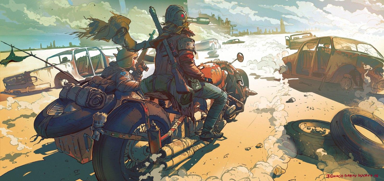 Quelle: neisbeis.artstation.com - Ignacio Bazan-Lazcano - bike 2
