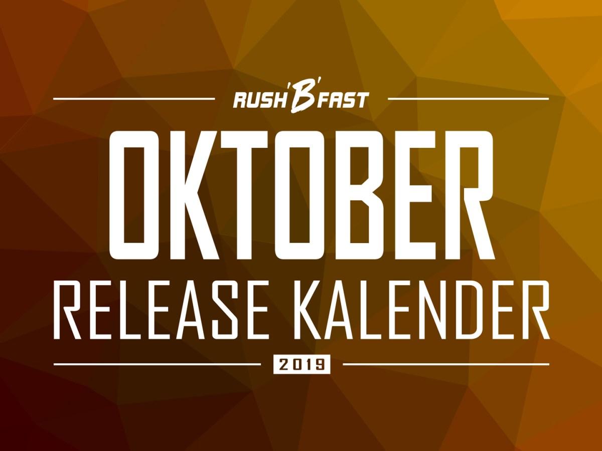 rush'B'fast - Game-Release-Kalender: Oktober 2019