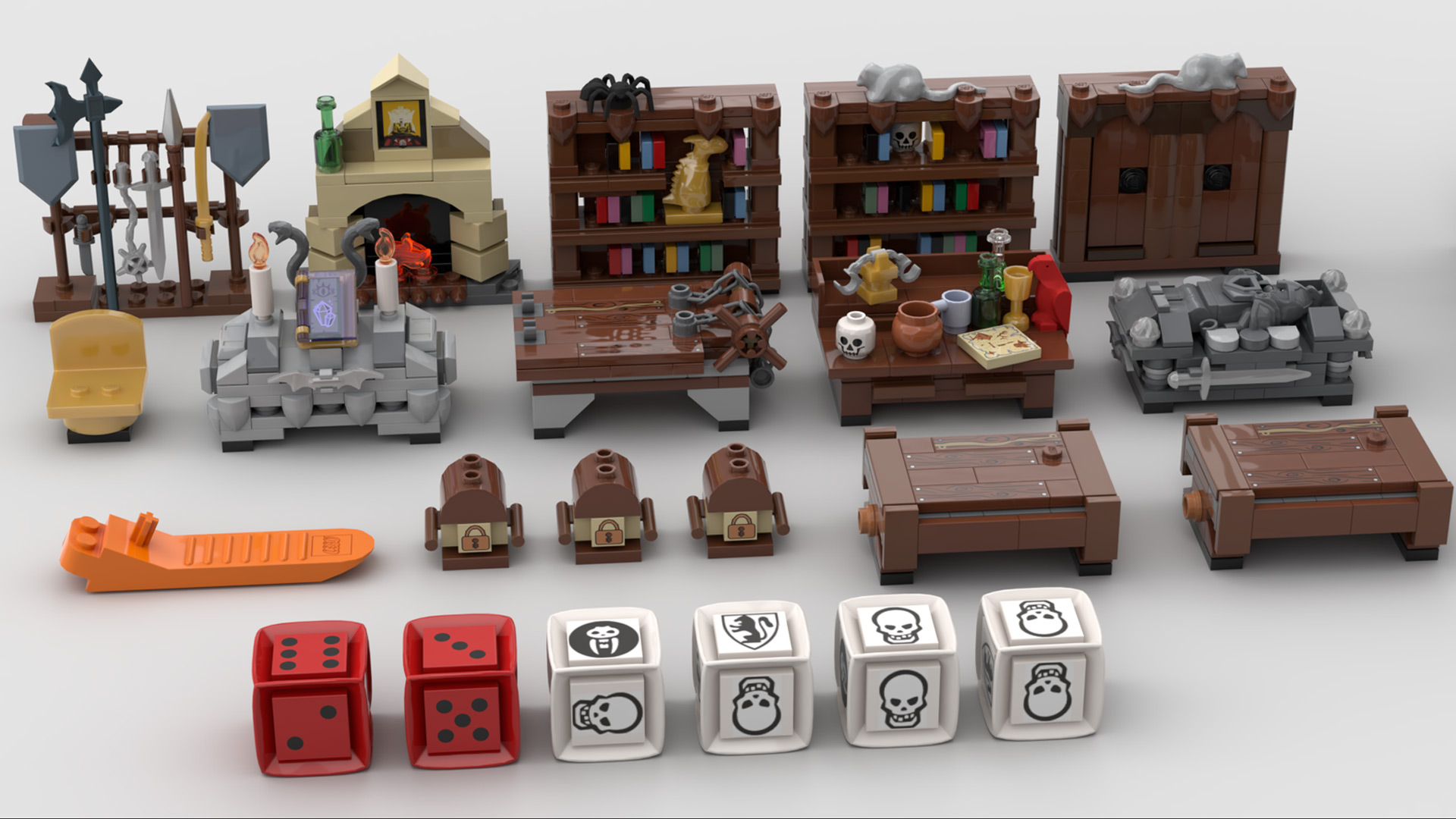 Quelle: LEGO IDEAS - Hero Quest - Interior und Würfel