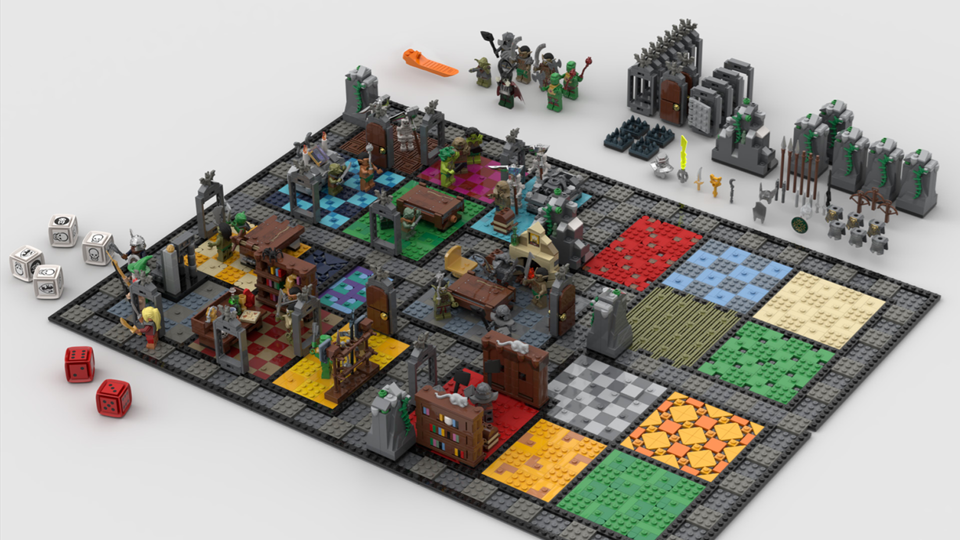 Quelle: LEGO IDEAS - Hero Quest - Spielbrett komplett
