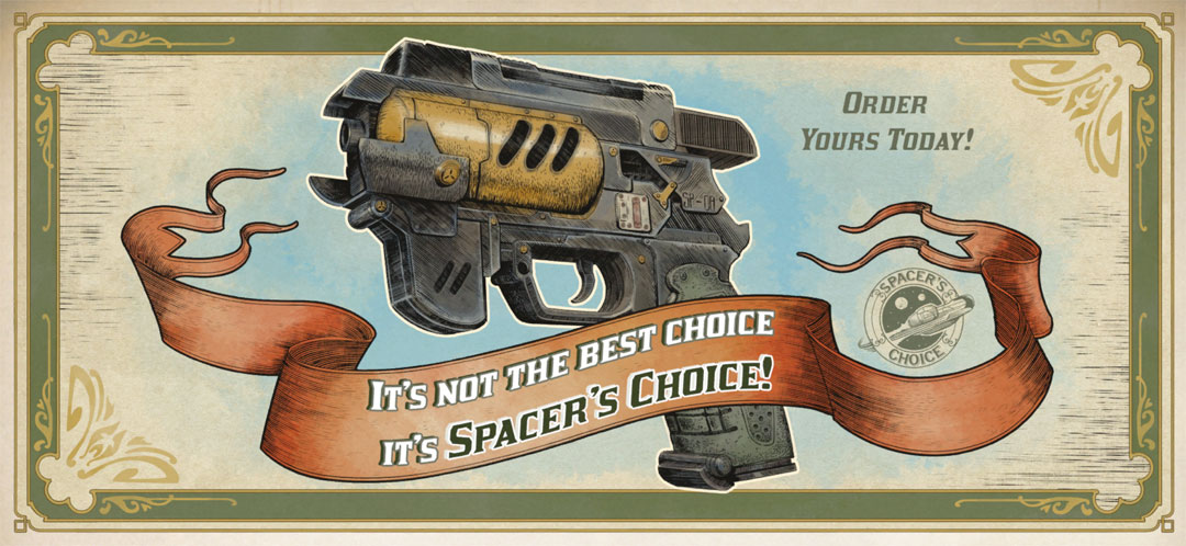 The Outer Worlds - Spacer's Choice Pistole