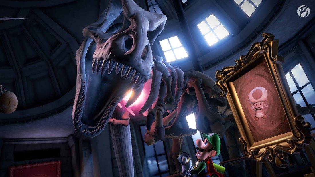 Luigi's Mansion 3 - Der kleine gefangene Toad wird schwer bewacht.