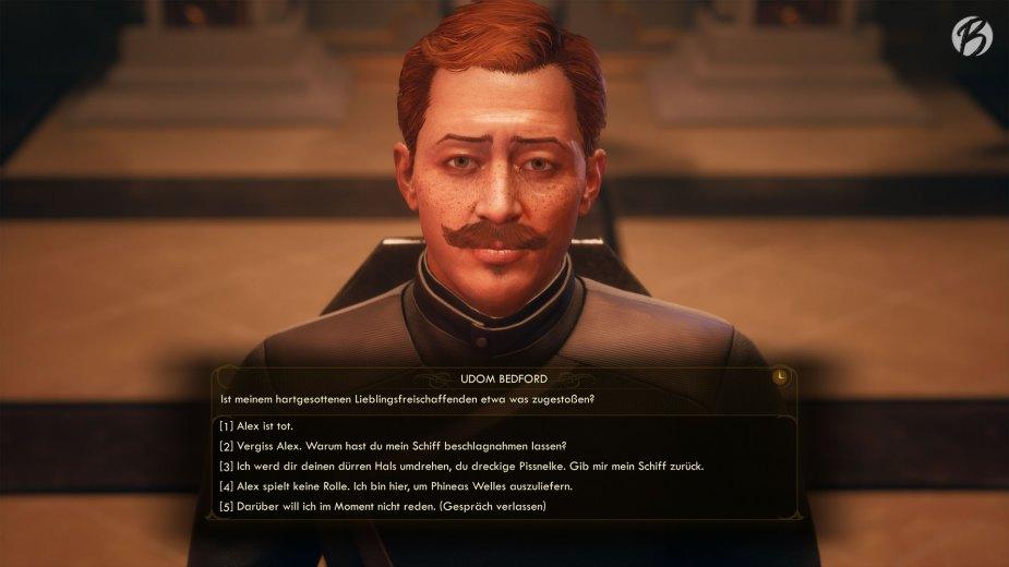 The Outer Worlds - Typisch für Obsidian Rollenspiele sind die unzähligen Dialogoptionen die meist, je nachdem wie man sich entscheidet, einzigartige Folgen haben.