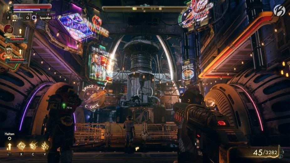 The Outer Worlds - Das begehbare und fraktionsneutrale Raumschiff, die Groundbreaker, gehört zu den absoluten Eyecatchern von The Outer Worlds.