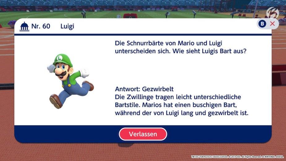 Mario & Sonic bei den Olympischen Spielen: Tokyo 2020 - Frage Nr. 60