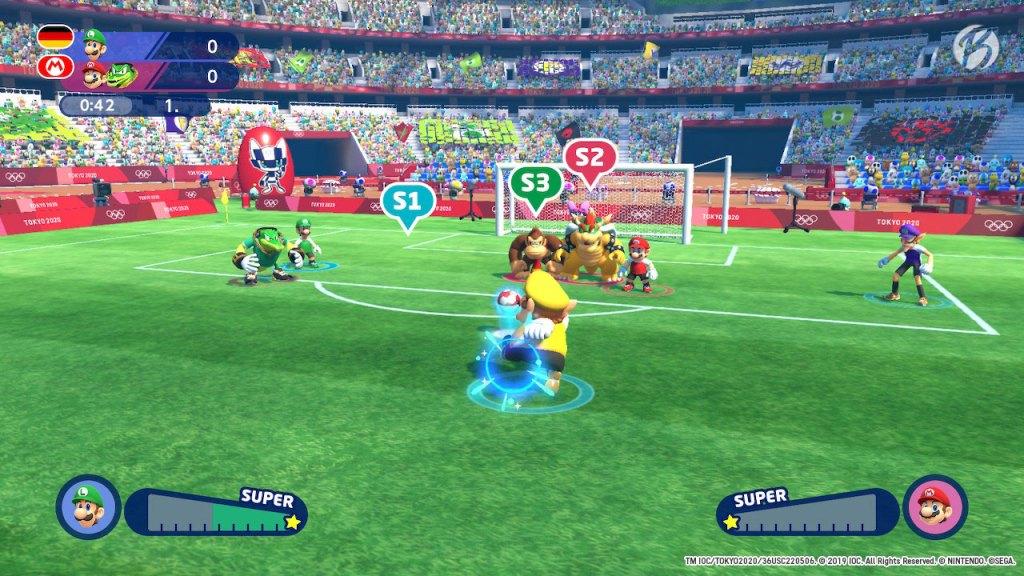 Mario & Sonic bei den Olympischen Spielen: Tokyo 2020 - Fußball: Wario Freistoß