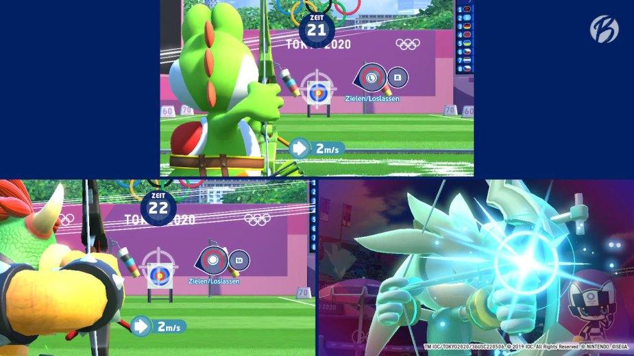 Mario & Sonic bei den Olympischen Spielen: Tokyo 2020 - Bogenschießen (3-Spieler-Wettkampf)