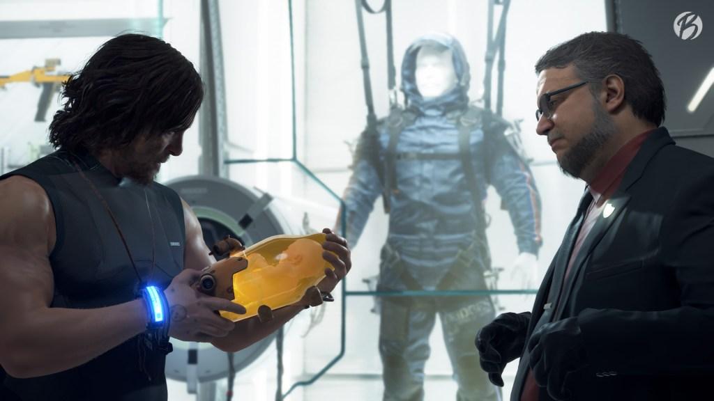 Death Stranding - Der rätselhafte Deadman, gespielt von Guillermo del Toro, überreicht uns BB als Werkzeug gegen die GD.