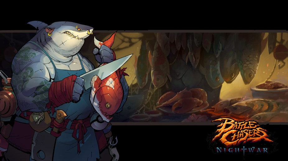 Quelle: artstation - Grace Liu - Battle Chasers: Nightwar (bc-vendorbg-fishmonger)