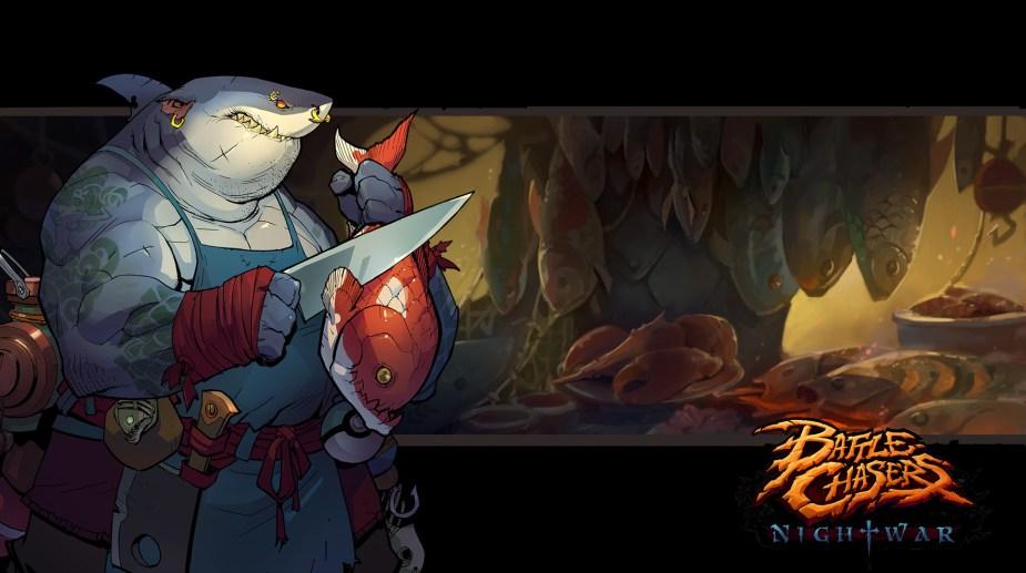 Quelle: artstation - Grace Liu - Battle Chasers: Nightwar (bc-vendorbg-fishmonger)