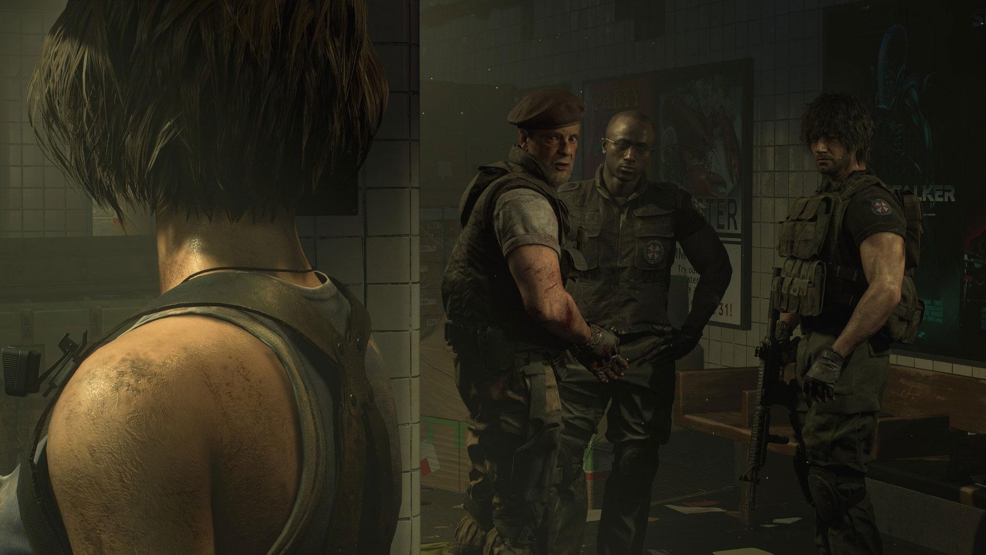 Quelle: Capcom - Jill trifft das UCBS-Einsatzteam