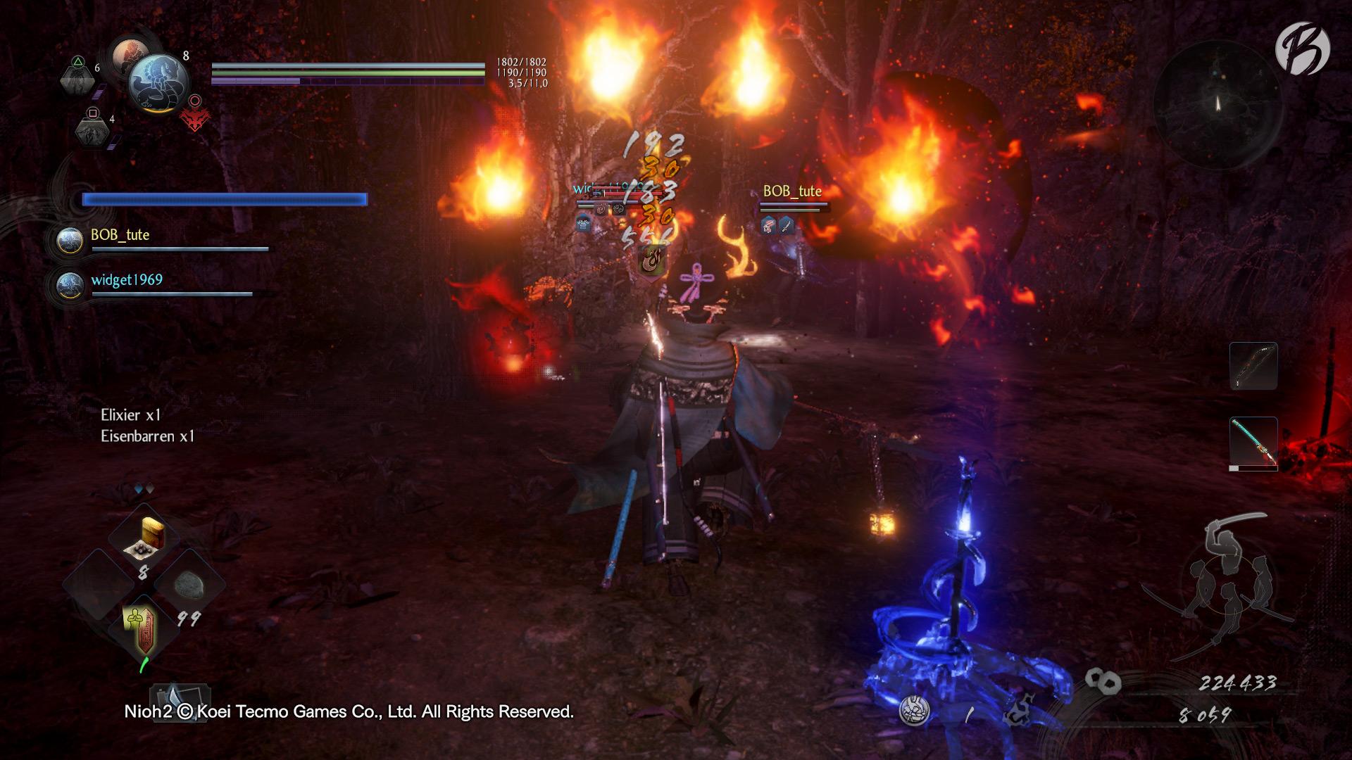Nioh 2 - Mit den Yokai-Fertigkeiten können auch Fernkampfzauber gewirkt werden.