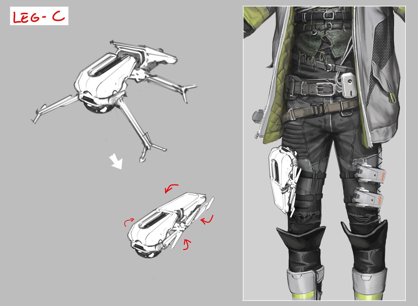 Quelle: Artstation - Hethe Srodawa - »Apex Legends« Character (Crypto)