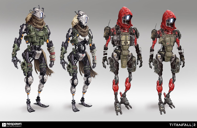 Quelle: Artstation - Hethe Srodawa - »Titanfall 2« Synthetic Pilots