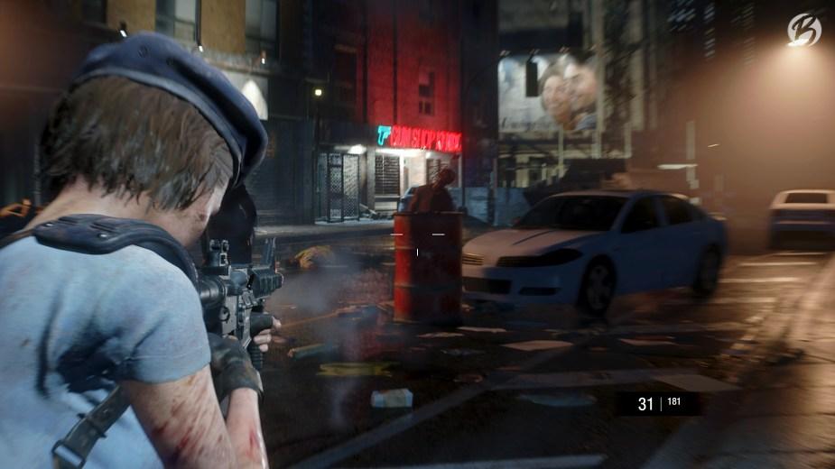 RESIDENT EVIL 3 (Remake) - Tipp: Locken wir Zombies zu einem roten Fass, können wir alle mit nur einem Schuss ausschalten.