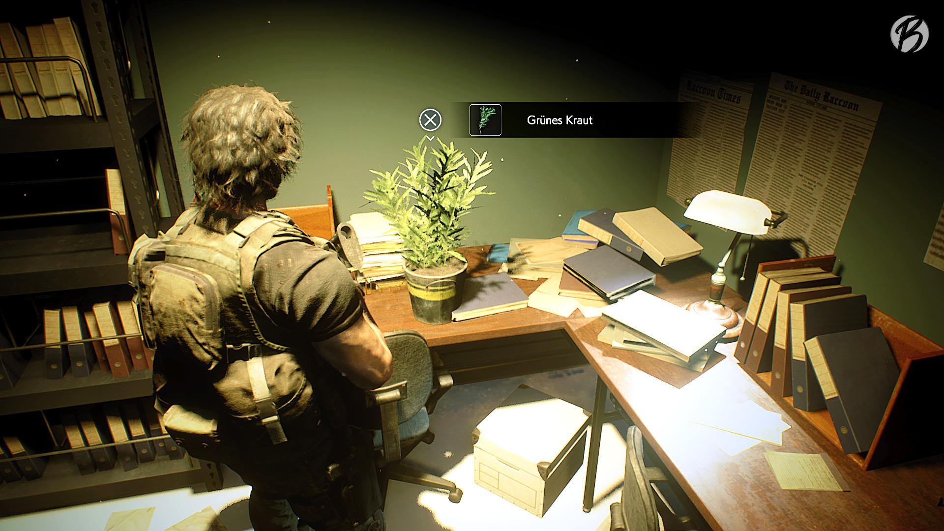 RESIDENT EVIL 3 (Remake) - Für das grüne Heilkraut sollte immer Platz im Inventar sein.