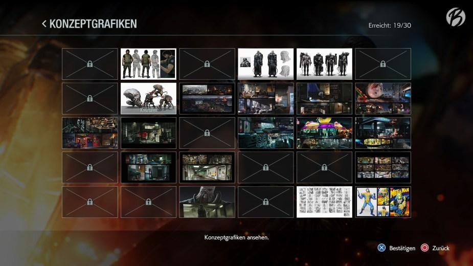 RESIDENT EVIL 3 (Remake) - Die freischaltbaren Konzeptgrafiken sind richtig gut.