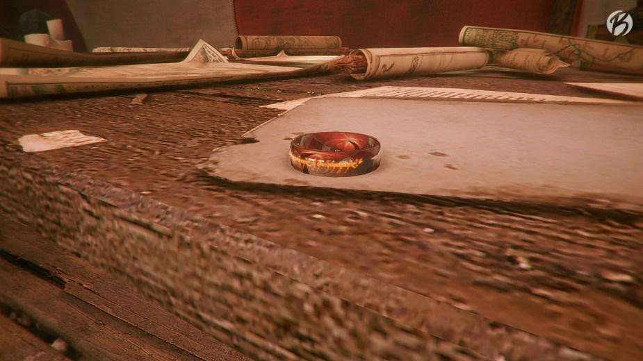 A Plague Tale: Innocence - Im Foto-Modus lässt sich am leichtesten die Elbenschrift auf dem Ring entziffern.