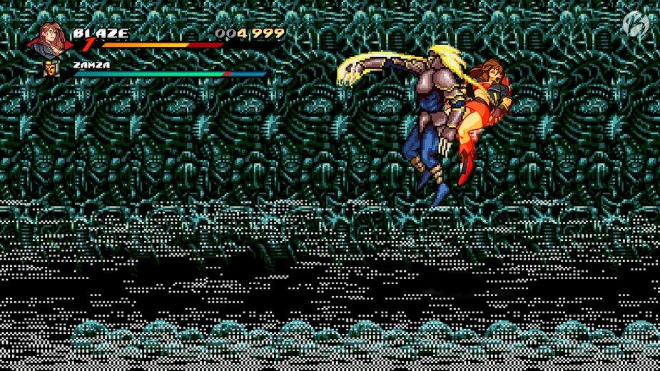 Streets of Rage 4 - Ein zerstörbares Arcade Cabinet in einer Ladenzeile bringt uns zu einem versteckten Bosskampf.