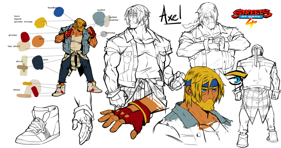 Quelle: Lizardcube - Streets of Rage 4 - Axel Artwork