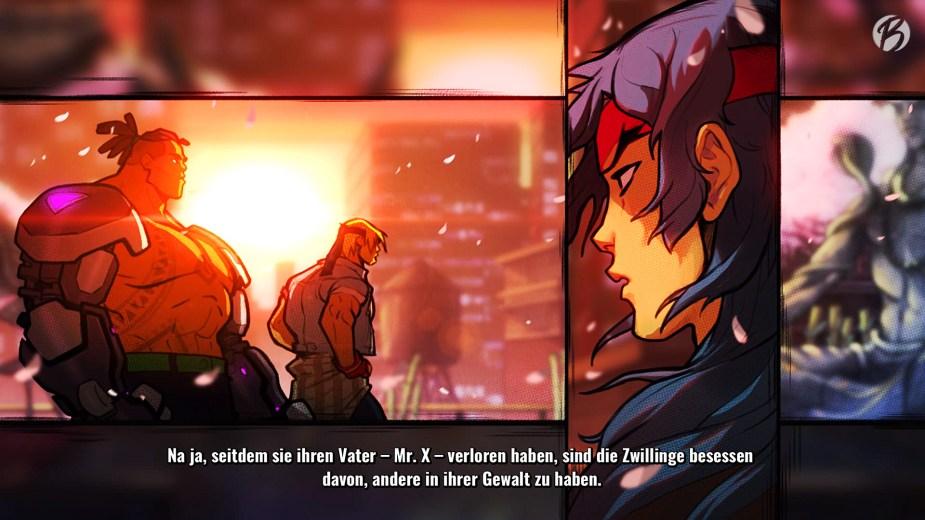 Streets of Rage 4 - Die Zwischensequenzen werden als animierter Comic dargestellt. Schade, dass die Dialoge nicht als Sprechblasen umgesetzt wurden.