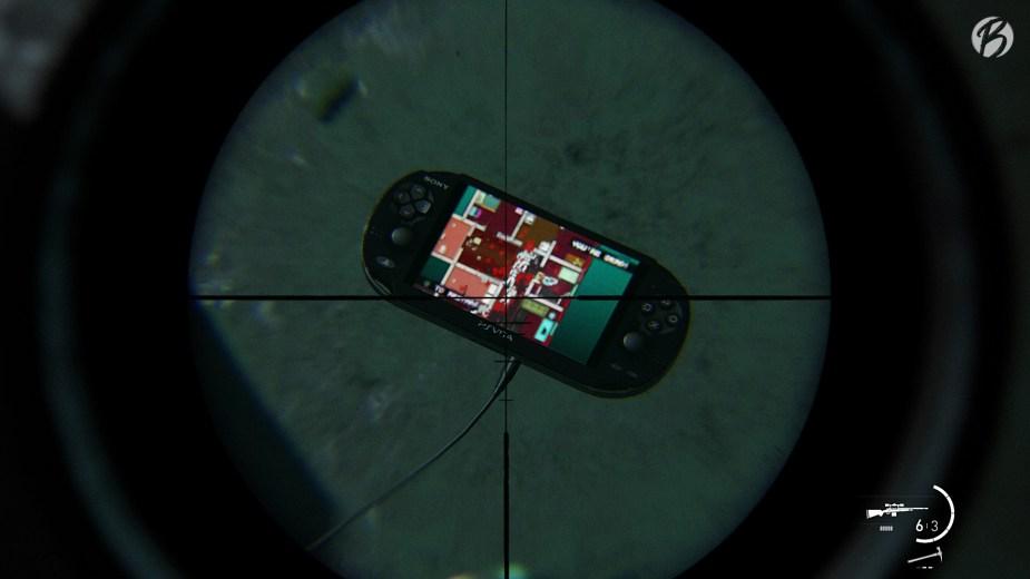 Detail: PS Vita mit Hotline Miami.