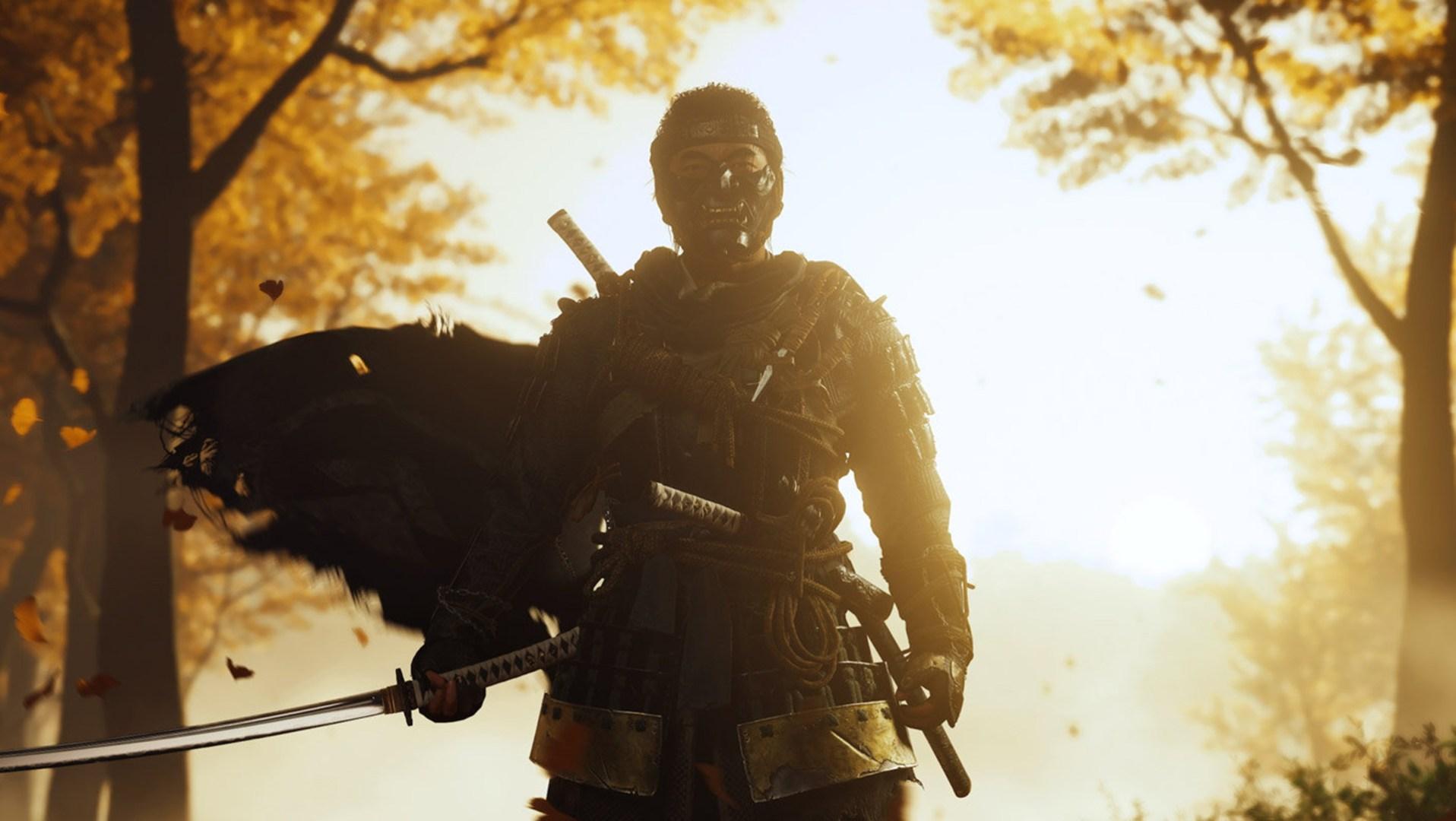 Quelle: SIE - Ghost of Tsushima - Jin Sakai mit Samurai Maske