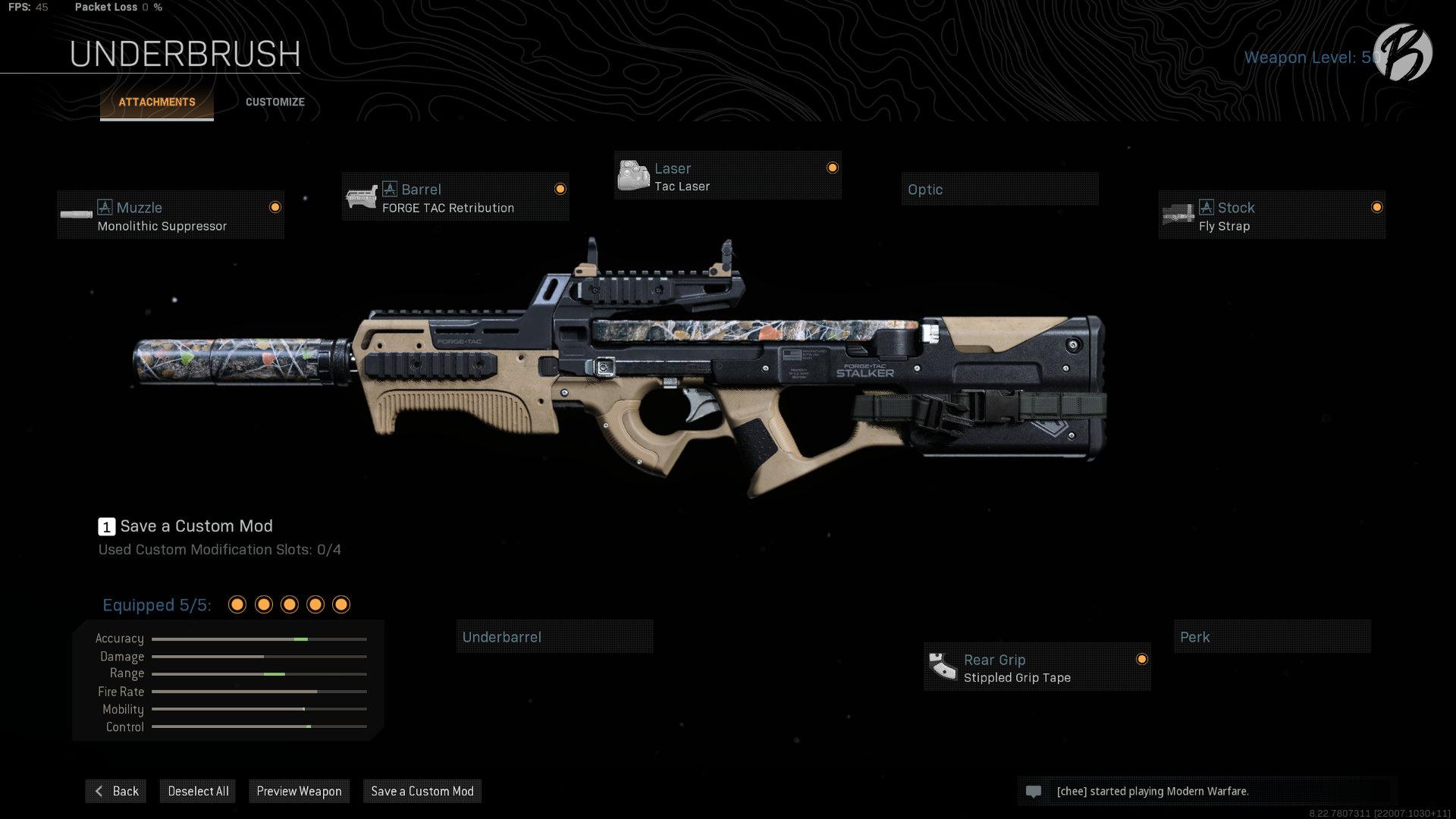 P90: Monolithic Suppressor, Forge TAC Retribution, Tac Laser, Fly Strap, Stippled Grip Tape