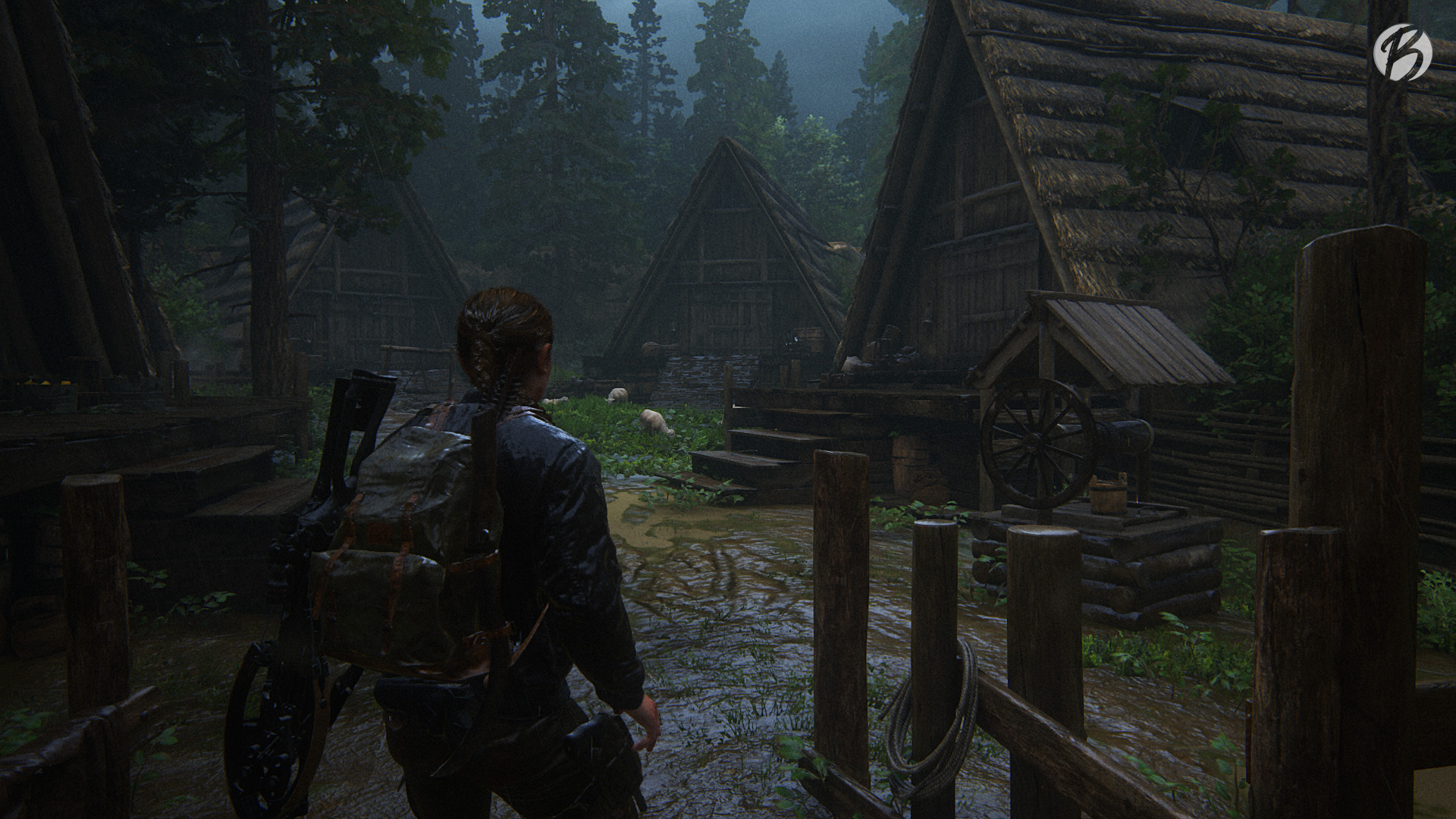 Die Seraphiten wohnen in altertümlichen Holzhäusern.