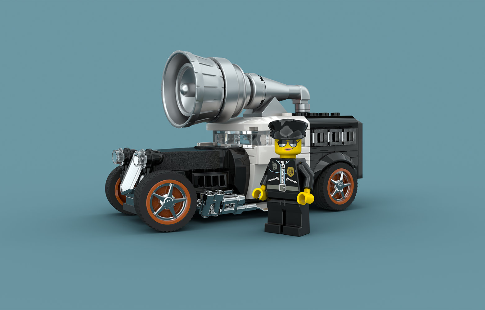 Quelle: flickr - GolPlaysWithLego - Outrageously over the top police street rod