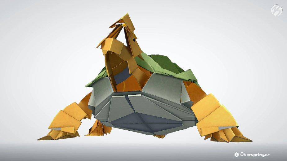 Paper Mario: The Origami King - Kein Pokémon! Die elementaren Pergamenton sind unsere ultimativen Angriffe in den Arenen.