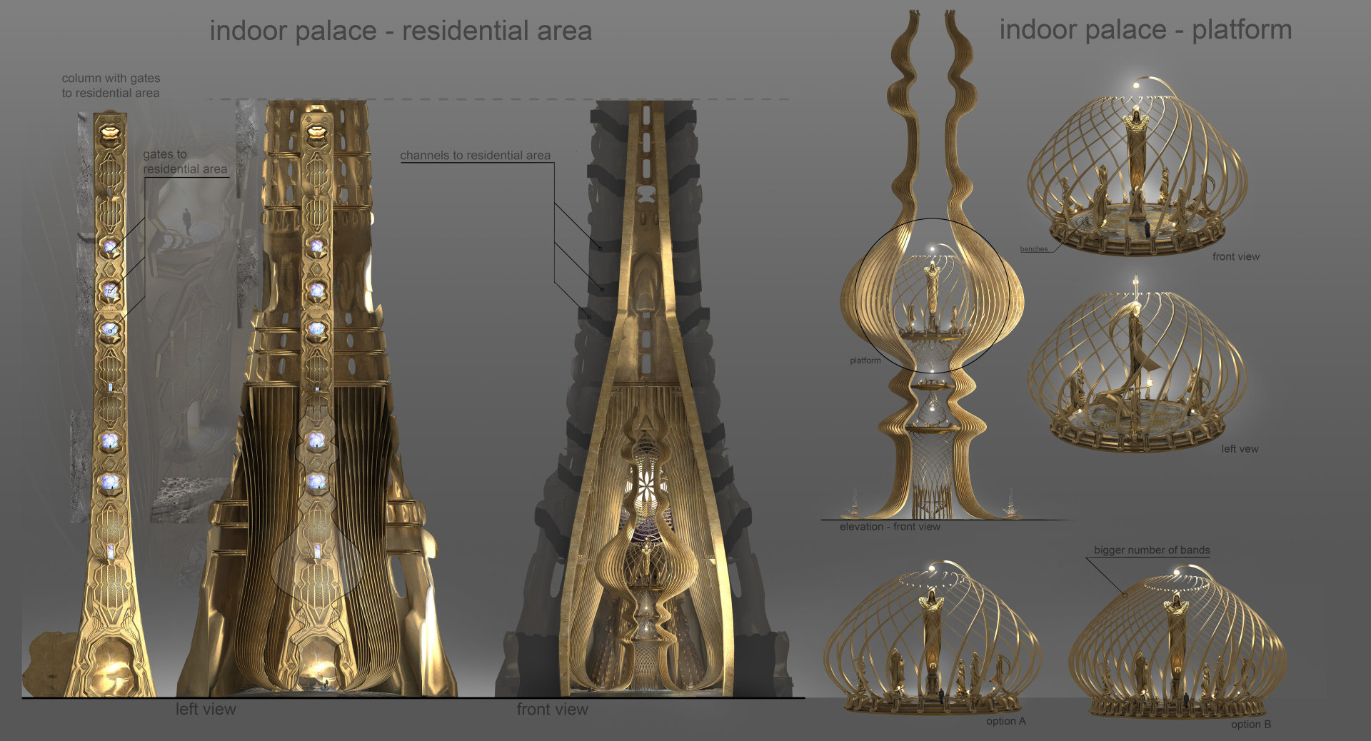 Quelle: ArtStation - Armando Savoia - Indoor Palace Residential Area