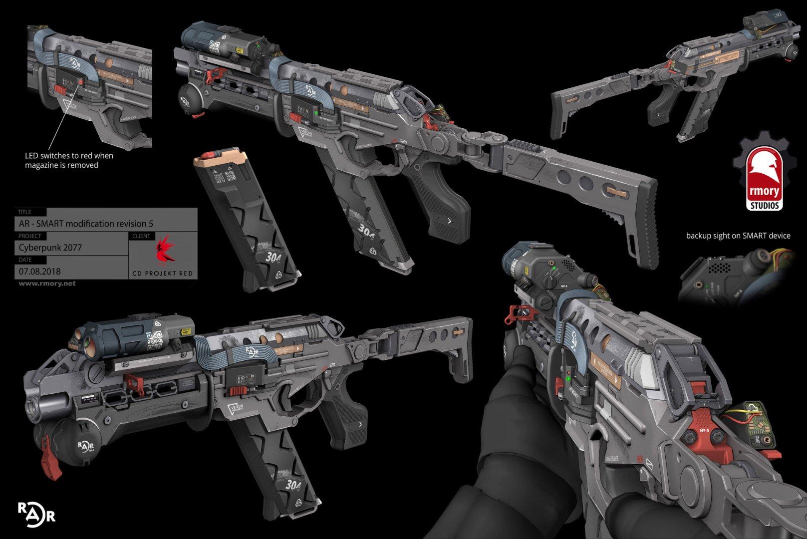 Quelle: Artstation - Kris Thaler - Cyberpunk 2077 AR Smart 3D Modell