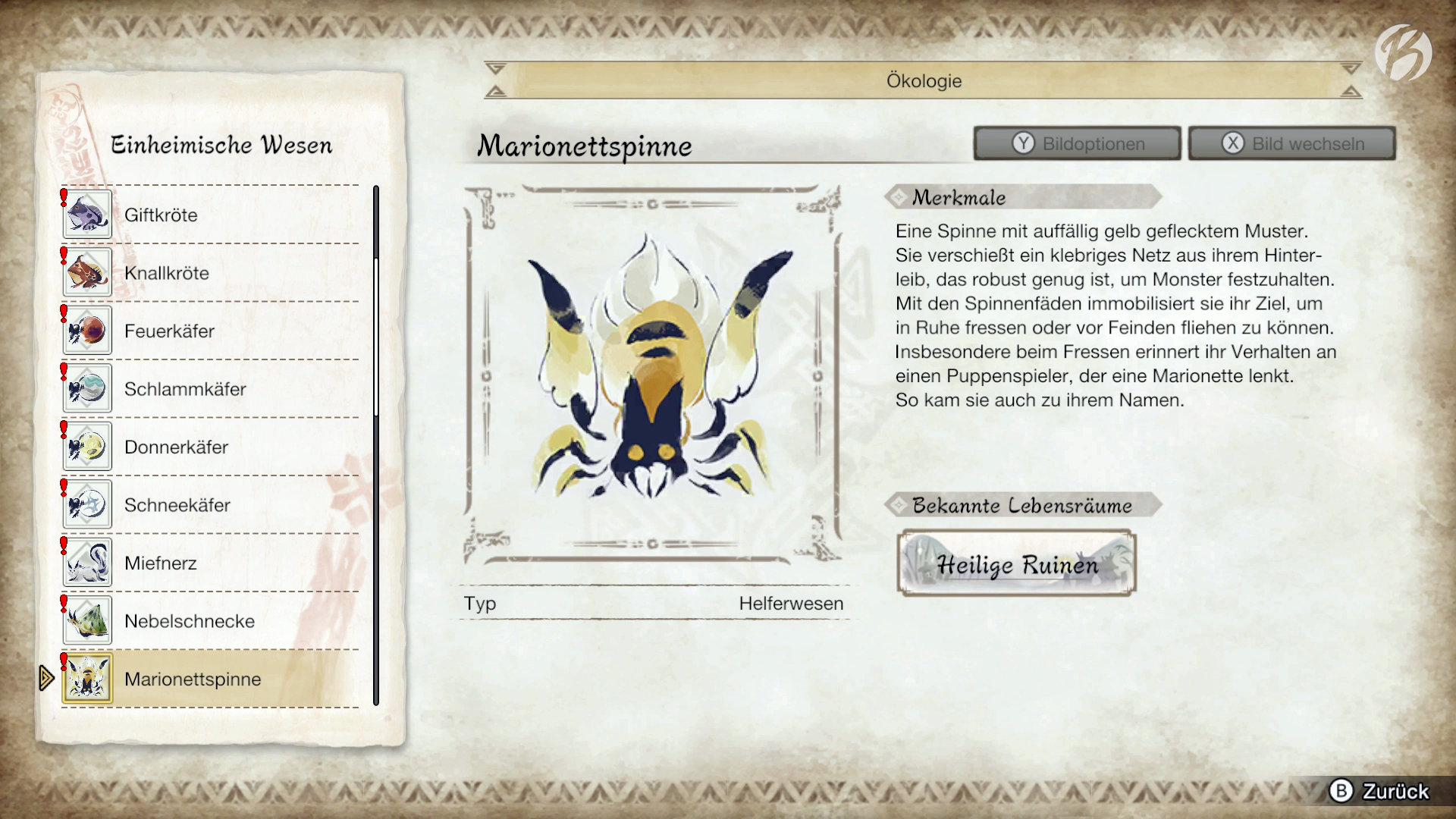 Monster Hunter Rise - Mit den Spinnenfäden der Marionettspinne lassen sich Monster zügeln.