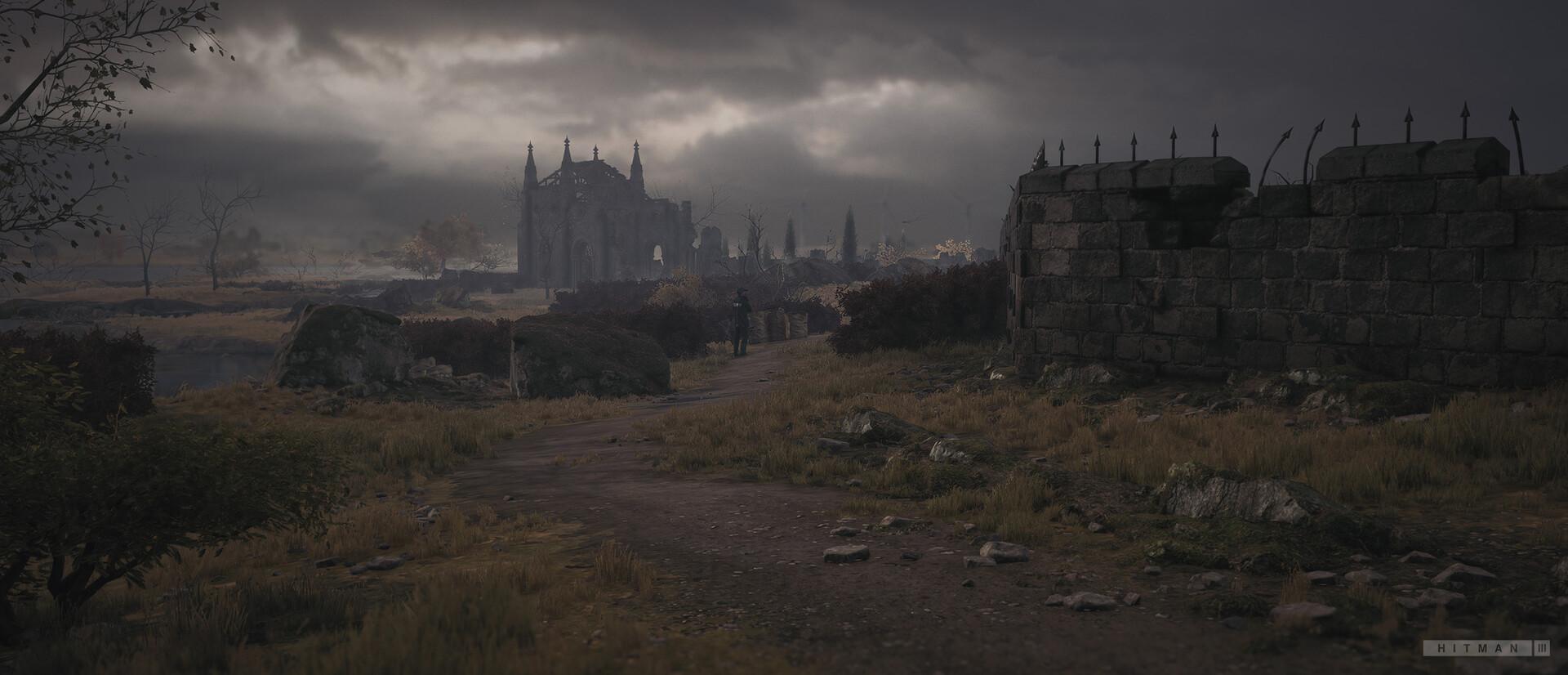 Quelle: ArtStation - Mathis Widrat - Hitman 3: Dartmoor (Ruine)